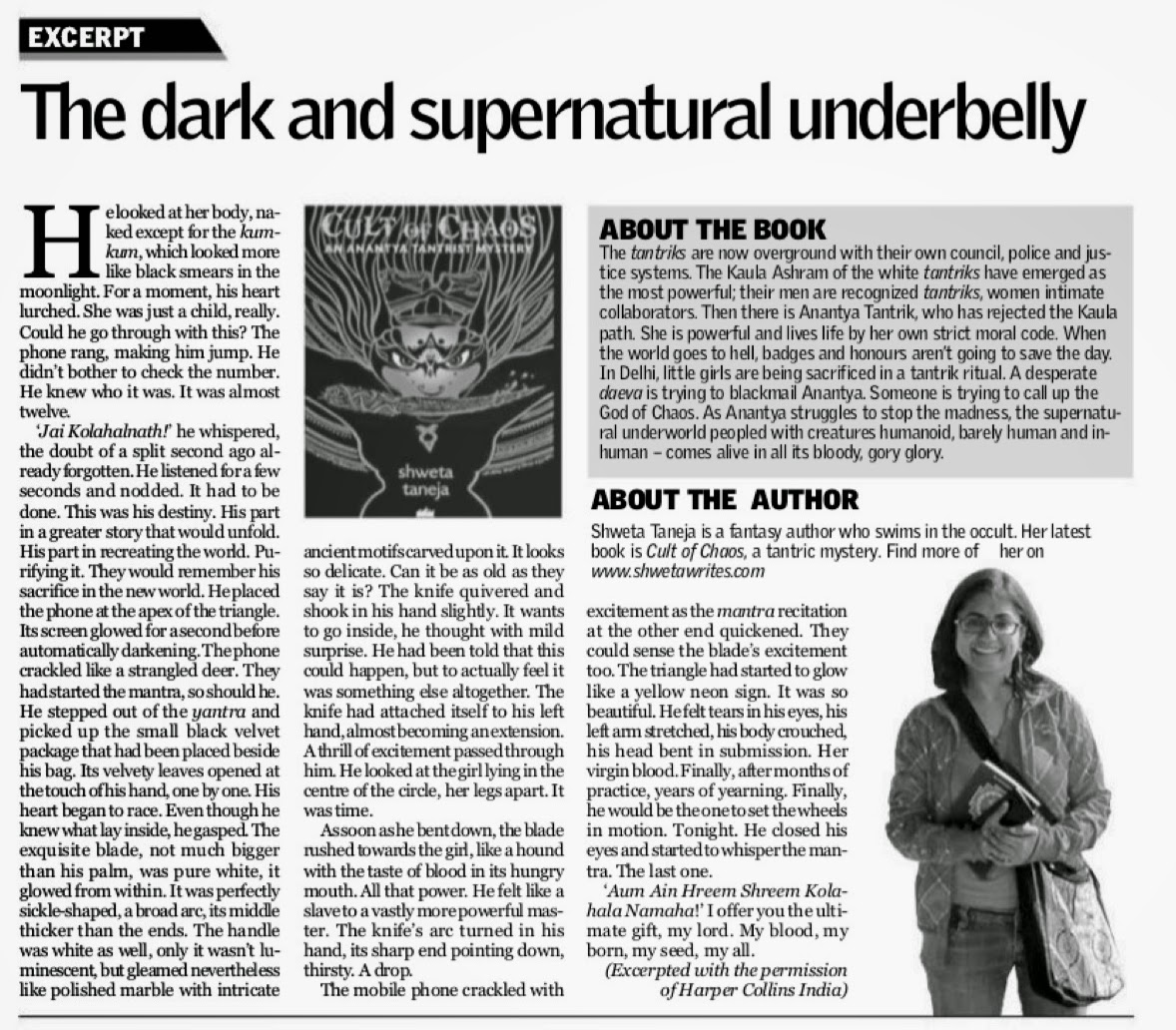 Excerpt in New Indian Express in February