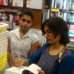 Signing copies at bookstores