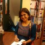 Signing copies at Bookworm