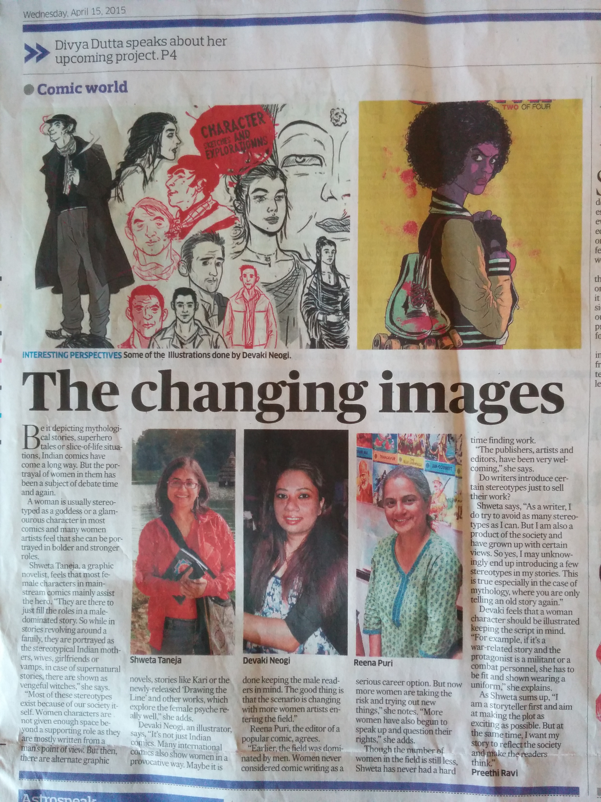 Deccan Herald on women in comics
