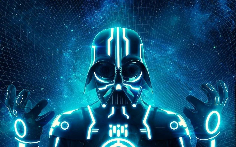 darth_vader_tron_science_fiction_neon_1440x900_18349